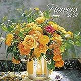 Flowers 2018: Broschürenkalender mit Ferienterminen. Blumen-Vielfalt. 30 x 30 cm - Wandkalender
