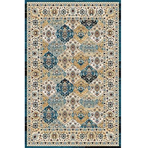 Qiao tappeto soggiorno tavolino tappeto stile iraniano divano tavolino casa camera da letto completa comodino coperta rettangolo antiscivolo antipolvere resistente all'usura tappeto