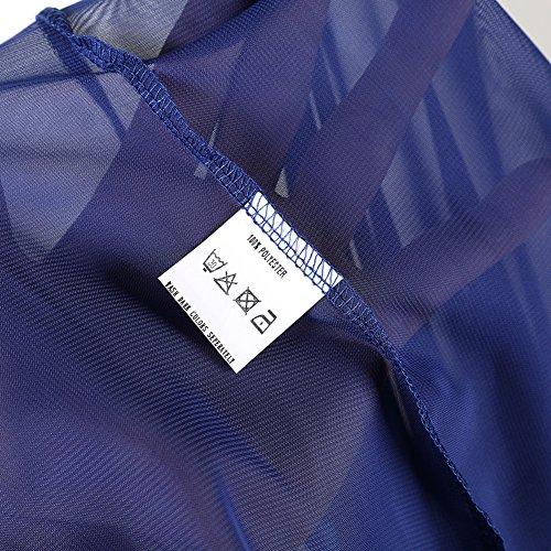 KOJOOIN Damen Elagant Umstandskleid Off Schulter Chiffon Schwanger Fotografie Rock, Festlich Lange Schwangerschafts Kleider Blau - 5