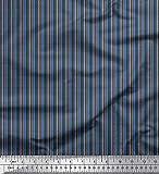 Soimoi Blau Satin Seide Stoff Fischgräte Hemdenstoff Stoff