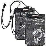 com-four com-four® 2X Wasserdichte Tasche, Schutzhülle geeignet für E-Books, Hülle in schwarz, 22,5 x 14 cm (22.5 x 14 cm - 02 Stück)