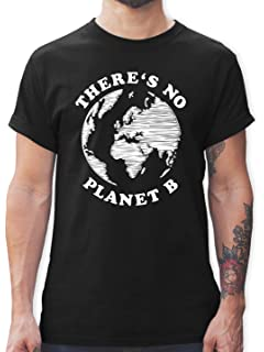 Shirtracer There is no Planet B Statement Tanktop f/ür Damen und Frauen Tops