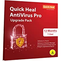 Quick Heal Antivirus Pro- Renewal Pack - 1 User, 1 Year (Email Delivery in 2 Hours - No CD)-Existing Quick Heal AV Pro subscription needed