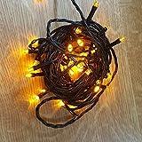 LED Lichterkette 40er 5m gelb / schwarz innen 468-62