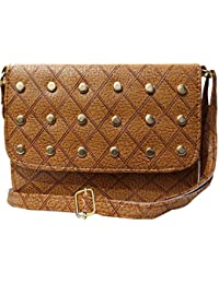 Attire Fancy Stylish Elegance Fashion Designer Sling Bag For Women & Girls( Brown)