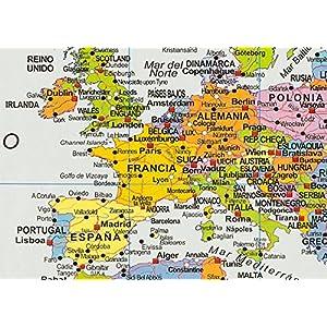 Mapa Político del Mundo sobre Respaldo de corcho, en Español 1:46, 4 Mio.