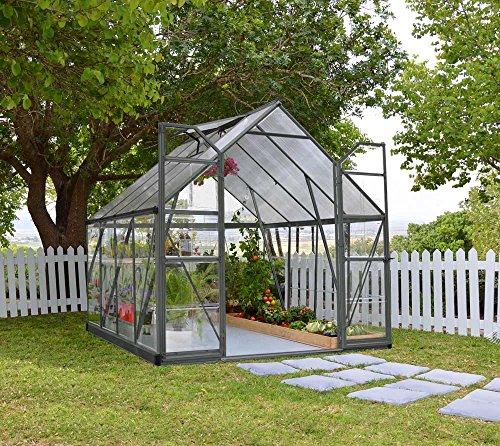 Palram Aluminium Gewächshaus, Gartenhaus, Tomatenhaus Balance 8x12 anthrazit // 366x243x231 cm //...