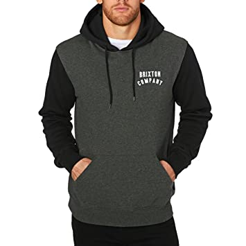 Brixton Men's Sweatshirt, Men, Sweat, charcoal heather/black