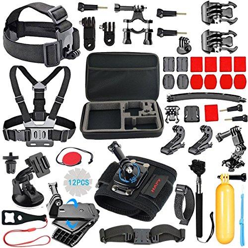 HAPY Sports de Plein air caméra Accessoires pour gopro héros 5 / Session 6/5 / 4/3 / 2/1, akaso ek7000, ek5000, sjcam, dbpower, xiaomi yi, Mallette, caméra Bundle