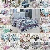 Buymax Bettwäsche Bettbezug 135x200 cm, Kopfkissenbezug 80x80 cm 2 teilig Bettgarnitur Bettwäsche - Set Baumwolle Renforcé mit Reißverschluss Oeko-Tex