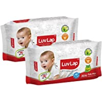 LuvLap Baby Wet Wipes 80's Pack of 2