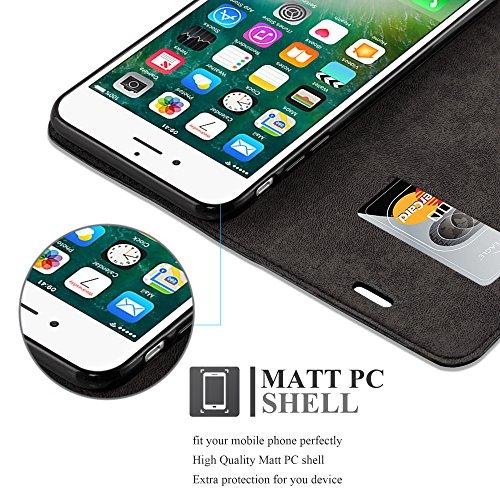 Cadorabo - Etui Housse pour Apple iPhone 7 PLUS avec Fermeture Magnétique Invisible (stand horizontale et fentes pour cartes) - Coque Case Cover Bumper Portefeuille en MARRON-CAFÉ NOIR-NUIT