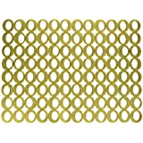 Chilewich Mod Rectangle Placemat, 14 by 19-Inch, Gold by Chilewich