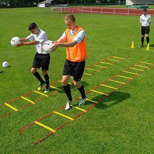 Koordinationsleiter 8 m, mit Tragebeutel, für Teamsportbedarf - Fußballtraining