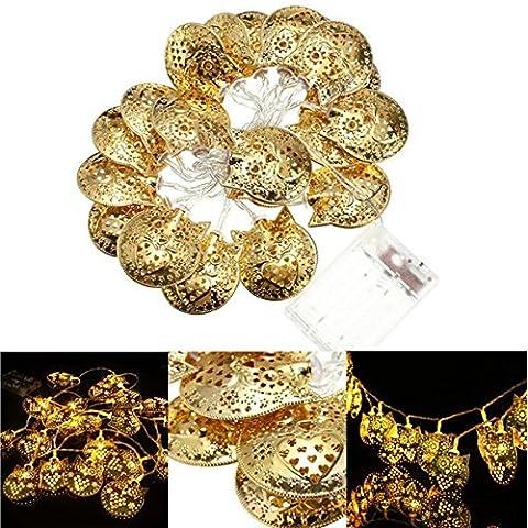 Bazaar 20LED warmweiß-Lichterkette Eule Fee Hochzeit Lampe Licht Weihnachten Party Weihnachtsbaum Dekoration
