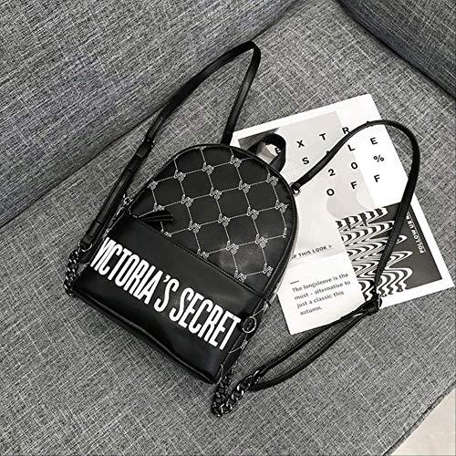 Sjbao Zaino Nuovi Prodotti Street Leisure Double Shoulder Bags Uomo Personalità Outdoor Creative Fashion Backpack Nero