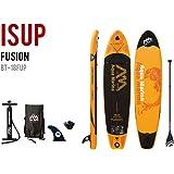 Aqua Marina Fusion Paddel Isup Sup Stand up Paddle Board, Orange-Schwarz, 330cm x75cm x 15cm