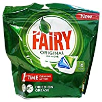 Fairy Oiginal All In One Dishwasher Capsules 16's