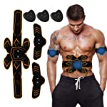 ABS Stimulator Muscle Toner, Rechargeable EMS Abdomen Muscle Trainer With 6 Modes 10 Levels, Muscle Toner Toning Belt For...