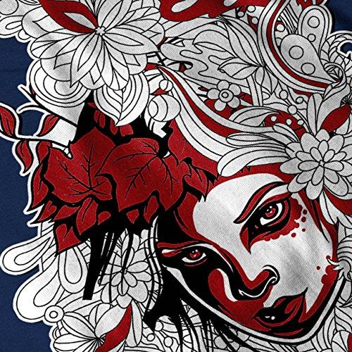 Mädchen Blume Power Dschungel Damen Schwarz S-2XL Muskelshirt | Wellcoda Marine