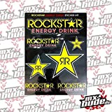 Rockstar Energy Stickersheet Stars Aufkleber Set black yellow