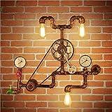 XIAOJIA American Style Vintage Metall Radfahren Creative Rohr Wand Lampe Cafe Bar Restaurant Hotel Saal Schlafzimmer Wohnzimmer dekorativen Leuchten Beleuchtung Leuchte