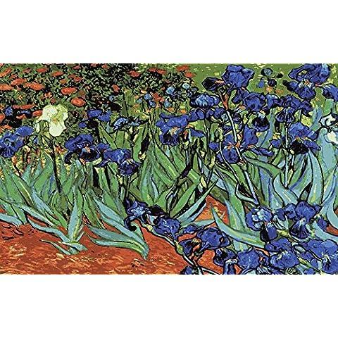 Iris van Gogh tela stampata per tappezzeria o Needlepoint