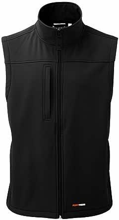 New Mens Softshell Bodywarmer Waistcoat Waterproof Windproof Fabric Thermally Lined Gillet Warm Casual Soft Zipped Side Pockets Leisure Workwear Walking Black Navy Green S-3XL