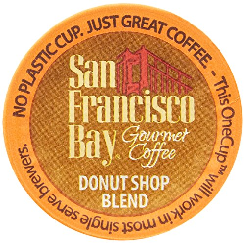 San Francisco Bay Donut Shop Blend 12 OneCups Single Serve by Rogers