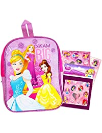 "Disney Princess Preschool Backpack Toddler (11"") With Disney Princess Reward Stickers"