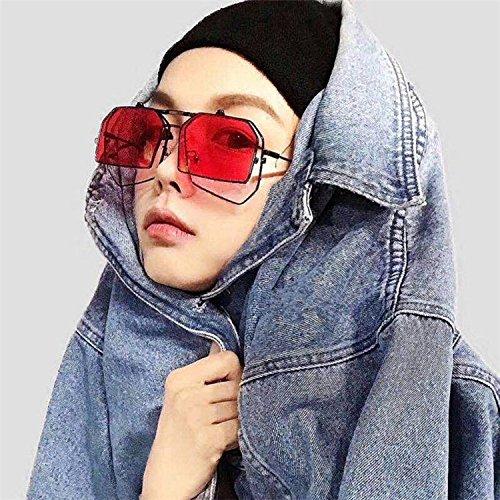 Sunyan Europa, Amerika, groß, Gesicht, double face, Duplex, Gläser, Polychromatischen Brille, Brillen, Sonnenbrillen, Japanische und Koreanische Brille frame, rot
