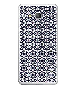 FUSON Designer Back Case Cover for Samsung Galaxy On7 Pro :: Samsung Galaxy On 7 Pro (2015) (Watercolor Hand Painted Blue Indigo Boho Pattern)