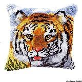 Vervaco PN-0014132 Knüpfkissen 3529 Tiger