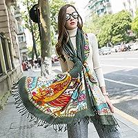 Ztweijin Winter Schals Ring Schal Damenmode Reine Warme Unisex Hals Winter Schal Hijab Poncho