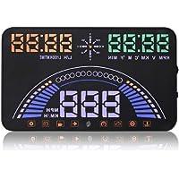 LinZec S7 Hud Head-Up Display, GPS Car OBD, Speedometer Verbrauch Verbrauch Meter Head-Up-Projektion, geeignet für alle Auto-Modelle