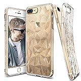 Custodia iPhone 7 Plus, Custodia iPhone 8 Plus, Ringke [Air Prism Glitter] Piramide Bella Elegante Fantasia a Diamante Flessibile Trama Protettiva Custodia Cover per Apple iPhone 7 Plus / 8 Plus - Luccichio Chiaro