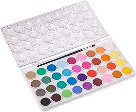 Towinle Aquarellfarben Set, 36 Wasserfarben Set mit Pinselstift Watercolors Wassermalfarben für Hobbymaler und Profis