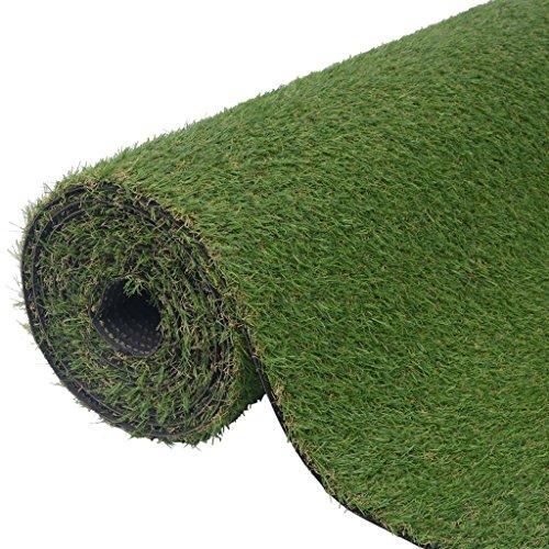 vidaXL Césped artificial verde 2x5 m/20-25 mm