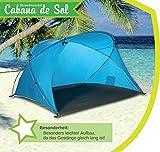 Familien-Strandmuschel Cabana de Sol, UV 50 Sonnenschutz, kleines Packmaß, windstabil