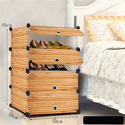 DELLT- Simple et moderne montage cadre de chaussures plastique économie combinaison de simple multi - étage salle de séjour grande chaussure rack ( taille : 69 26 54cm ) 3YpfdUbZ