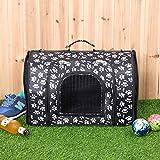 Sxstyswj87 Borsa a tracolla portatile pieghevole per animali domestici qw (Colore : Black and White)
