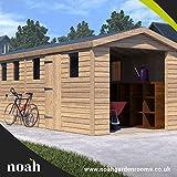 10x 10Hamstead garage Heavu Duty in legno Shed/officina/garage