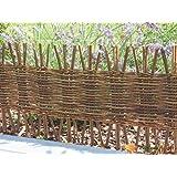Bordure de jardin en noisetier tress h 15cm x l 2m for Bordure en noisetier tresse