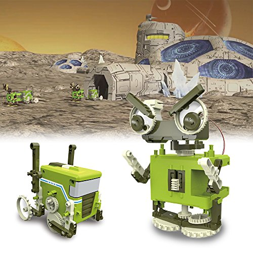 Vatos 4 in 1 Self assembled Transformation Robot Science & Education DIY Fun Teach Construction Creative Gift Toys for Kids. by VATOS