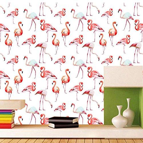 J Moderne einfache Flamingo Grafiken wasserdicht selbstklebende Tapete Wandsticker Wandaufkleber SWP030 , flamingo (Geprägte Grafiken)