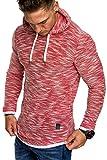 Amaci&Sons Herren 2in1 Kapuzenpullover Hoodie Sweater Pullover Sweatshirt 4013 Rot S