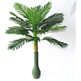 Florakite Plastic Artificial Large Silk Green Leaves Palm Tree with No Pot (100cm)