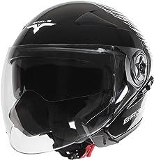 Jago Motorradhelm Jet mit Visier Sonnenbrille und Tragetasche (Größe wählbar)