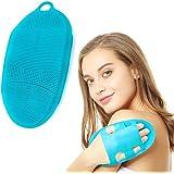 KACOOL Body Scrub, Soft Silicone Body Scrubber Exfoliating Glove Shower Cleansing Brush, SPA Feet Back Bathing Massage…