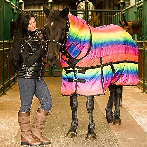 Equitazione impermeabile, 300 g Combo invernale stalla Rainbow-Tappeto, misure da 0 a 7